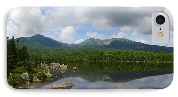Reflections Of Katahdin At Sandy Stream Pond IPhone Case