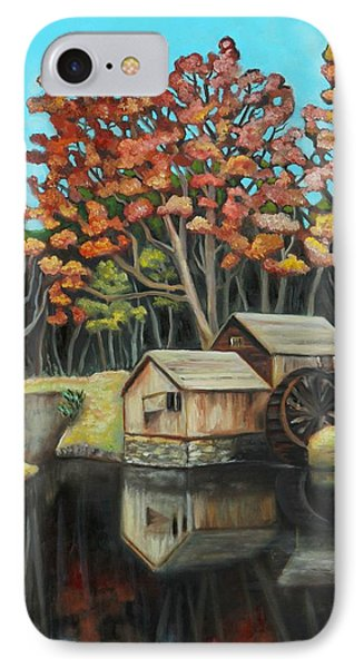 Reflections Of Mabry Mill Phone Case by Eve  Wheeler