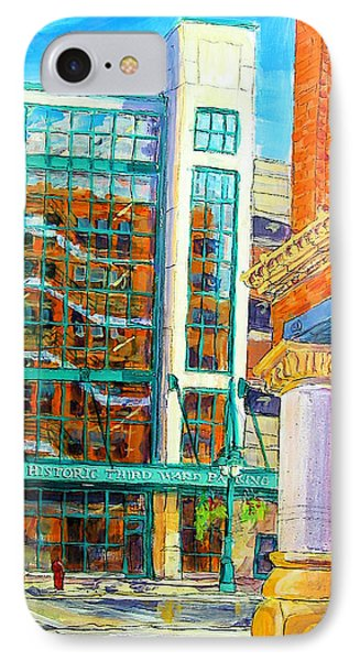 IPhone Case featuring the painting Reflections Of Old by Les Leffingwell