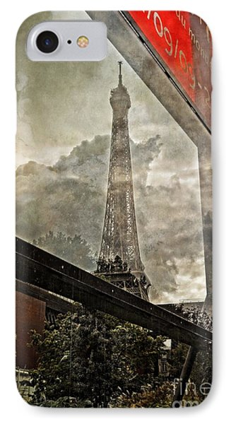 Reflections Of Paris Phone Case by Mary Machare