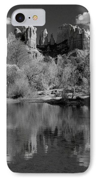 Reflections Of Sedona Black And White Phone Case by Joshua House