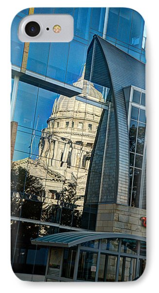 Reflections Of The Capitol IPhone Case by Janice Adomeit