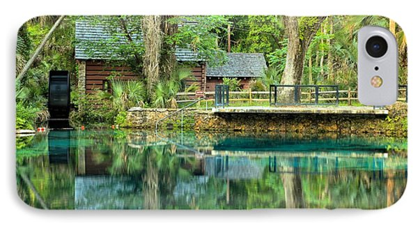 Reflections Of The Juniper Springs Mill House IPhone Case