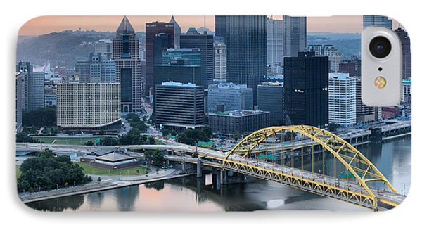 Reflections Of The Pittsburgh Skyine IPhone Case