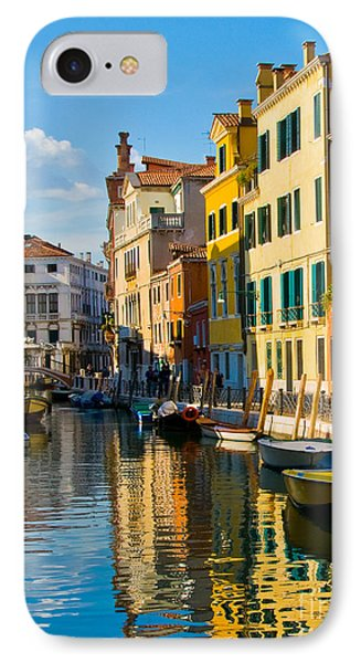 Reflections Of Venice II Phone Case by Sheila Laurens