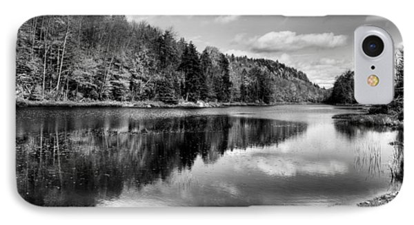 Reflections On Bald Mountain Pond IPhone Case by David Patterson