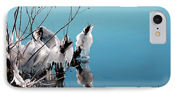 IPhone Case featuring the photograph Reflections On Ice by Linda Cox