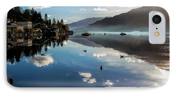 Reflections On Loch Goil Scotland IPhone Case by Lynn Bolt