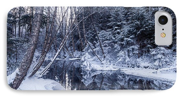 Reflections On Wintry River IPhone Case