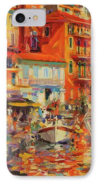 Reflections - Villefranche IPhone Case by Peter Graham