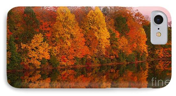 Reflective Lake Nockamixon Pano - Twilight IPhone Case