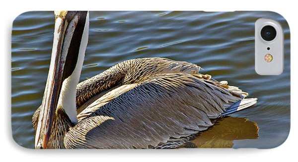 IPhone Case featuring the photograph Reflective Pelican by Alice Mainville