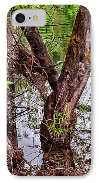 Reflective Trees In A Lake Phone Case by Omaste Witkowski