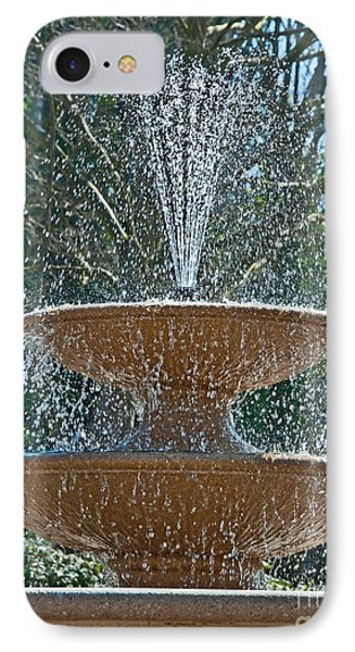 Refreshing Fountain Of Water In Sunshine Phone Case by Valerie Garner