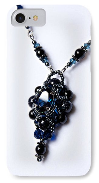 Regal Sapphire Pendant Necklace And Matching Earrings Set Phone Case by WDM Gallery