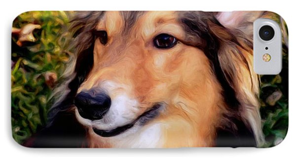 Dog - Collie - Regal Shelter Dog IPhone Case by Luther Fine Art