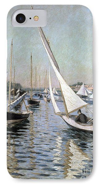 Regatta At Argenteuil Phone Case by Gustave Caillebotte