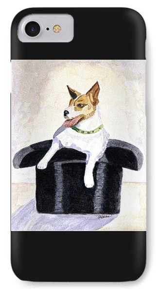 IPhone Case featuring the painting Reggie In A Top Hat  by Angela Davies