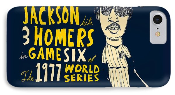 Reggie Jackson New York Yankees Phone Case by Jay Perkins