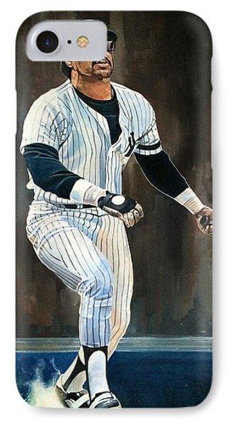 Reggie Jackson New York Yankees IPhone Case by Michael  Pattison