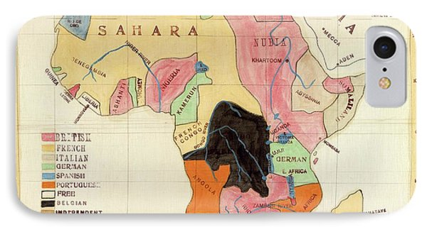 Regions Of Africa IPhone Case by Library Of Congress, Geography And Map Division