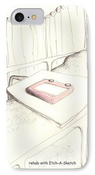 rehab with Etch-A-Sketch Phone Case by Alan McCormick