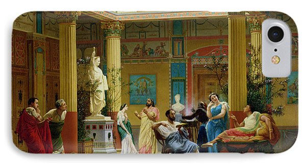 Rehearsal Of The Fluteplayer And The Diomedes Wife In The Atrium Of The Pompeian House Of Prince IPhone Case by Gustave Clarence Rodolphe Boulanger
