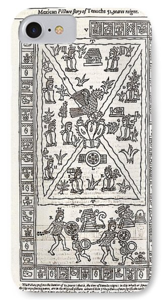 Reign Of Aztec Ruler Tenoch IPhone Case by Middle Temple Library