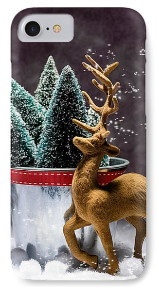 Reindeer At Christmas IPhone Case