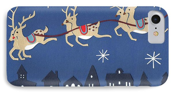 Reindeer IPhone Case by Isobel Barber
