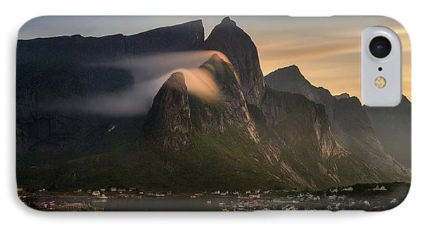 Reine Village With Mountains At Sunset IPhone Case by Panoramic Images