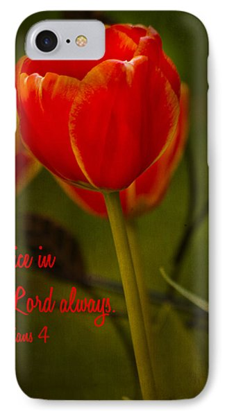 Rejoice In The Lord IPhone Case by Bill Barber