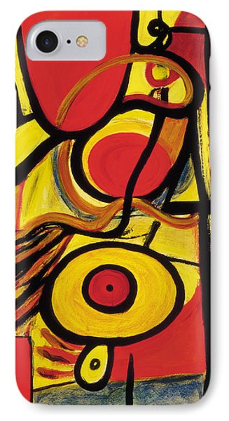 IPhone Case featuring the painting Relativity 2 by Stephen Lucas