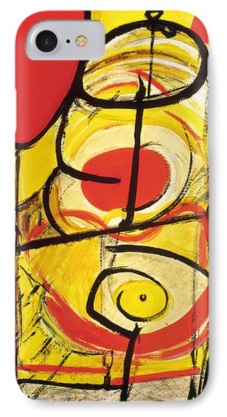 IPhone Case featuring the painting Relativity 3 by Stephen Lucas