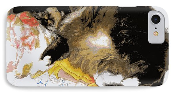 Relax Cat IPhone Case by Heidi Manly