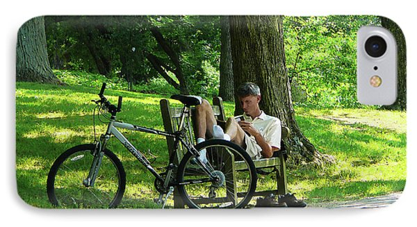 Relaxing After The Ride Phone Case by Susan Savad