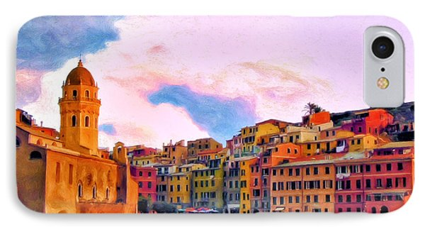 Relaxing Around Vernazza IPhone Case by Michael Pickett