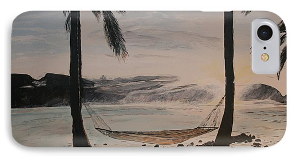 IPhone Case featuring the painting Relaxing At The Beach by Ian Donley