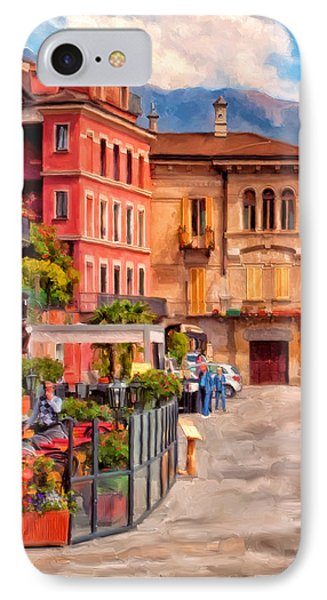 Relaxing In Baveno IPhone Case by Michael Pickett