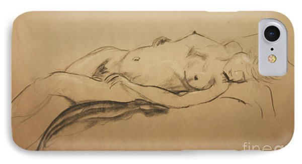 Relaxing Nude IPhone Case by Gabrielle Schertz