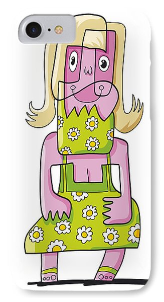 Relaxing Woman Doodle Character IPhone Case by Frank Ramspott