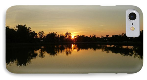 Reflections At Dusk IPhone Case by Marguerita Tan