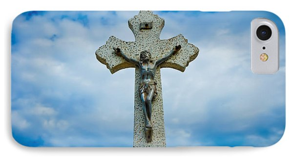 Religious Cross IPhone Case by Aged Pixel