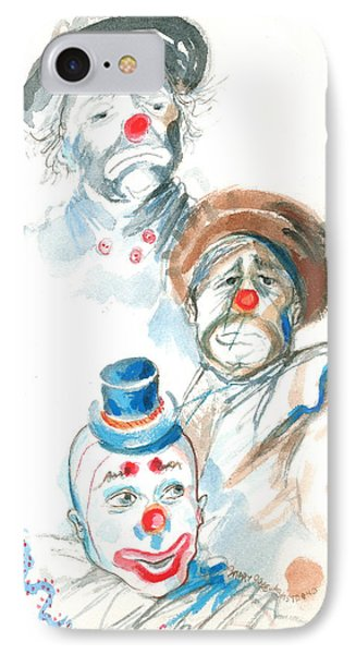 IPhone Case featuring the painting Remember The Clowns by Mary Armstrong