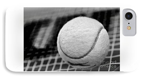 Remember The White Tennis Ball IPhone Case by Kaye Menner