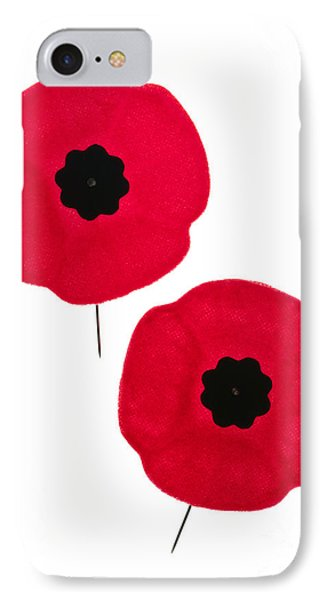 Remembrance Day Poppies IPhone Case by Elena Elisseeva