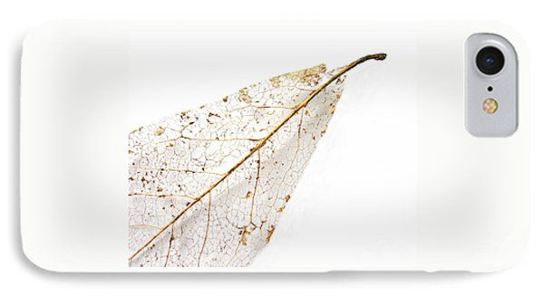 IPhone Case featuring the photograph Remnant Leaf by Ann Horn