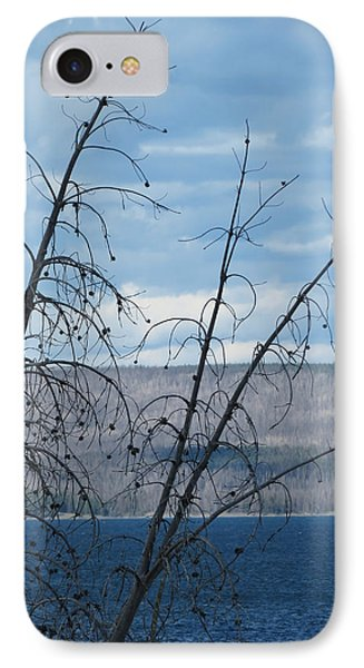 IPhone Case featuring the photograph Remnants Of The Fire by Laurel Powell