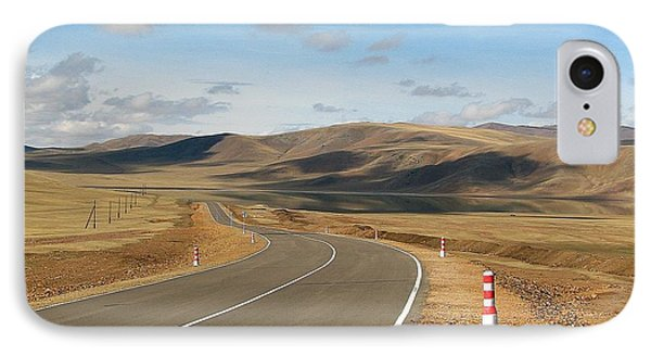Remote Highway Mongolia IPhone Case by Diane Height