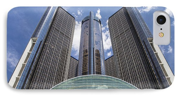 Renaissance Center From River IPhone Case